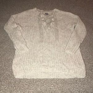 Women's Aerie Lace-up Sweater
